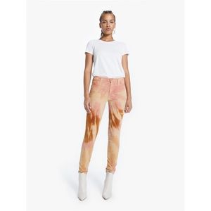 MTHR High Waisted Looker Tie-dye Skinny Jeans